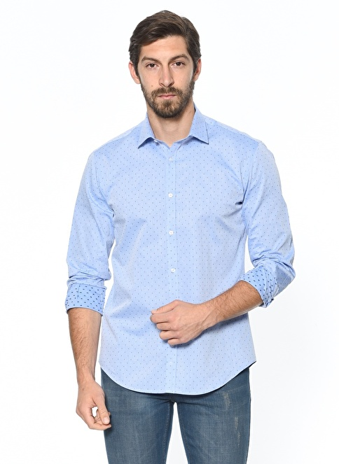 Daffari Slim Fit Gömlek Mavi